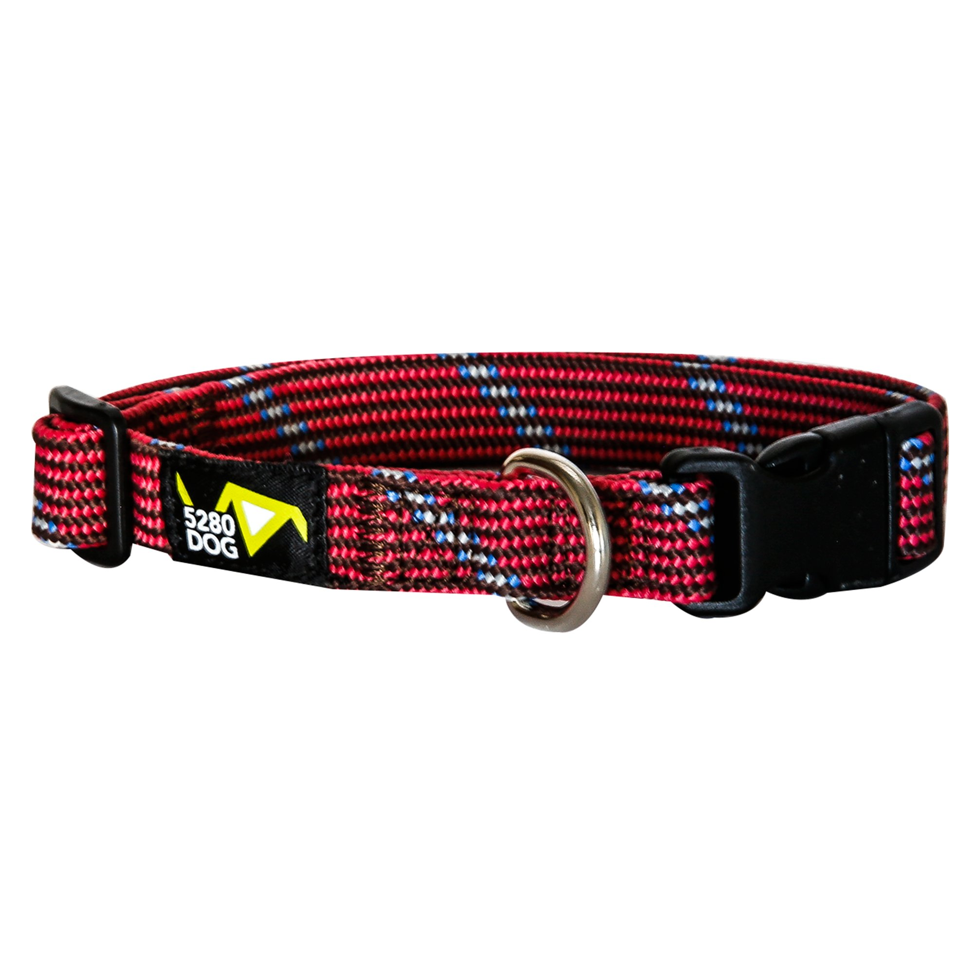 5280DOG Red Braided Collar, Medium