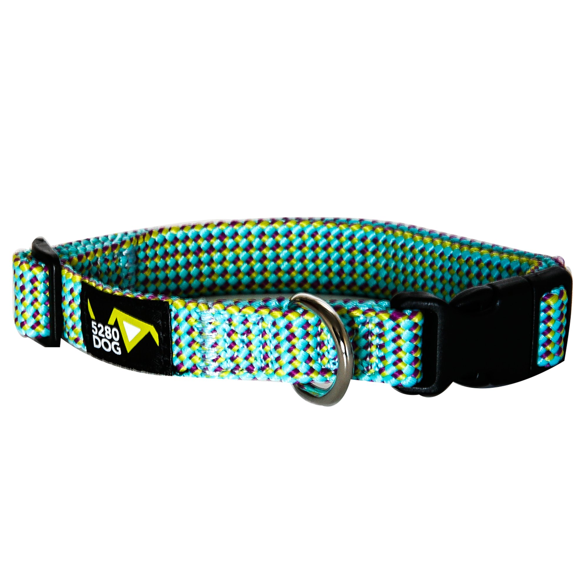 5280DOG Sea Green Braided Collar, Medium