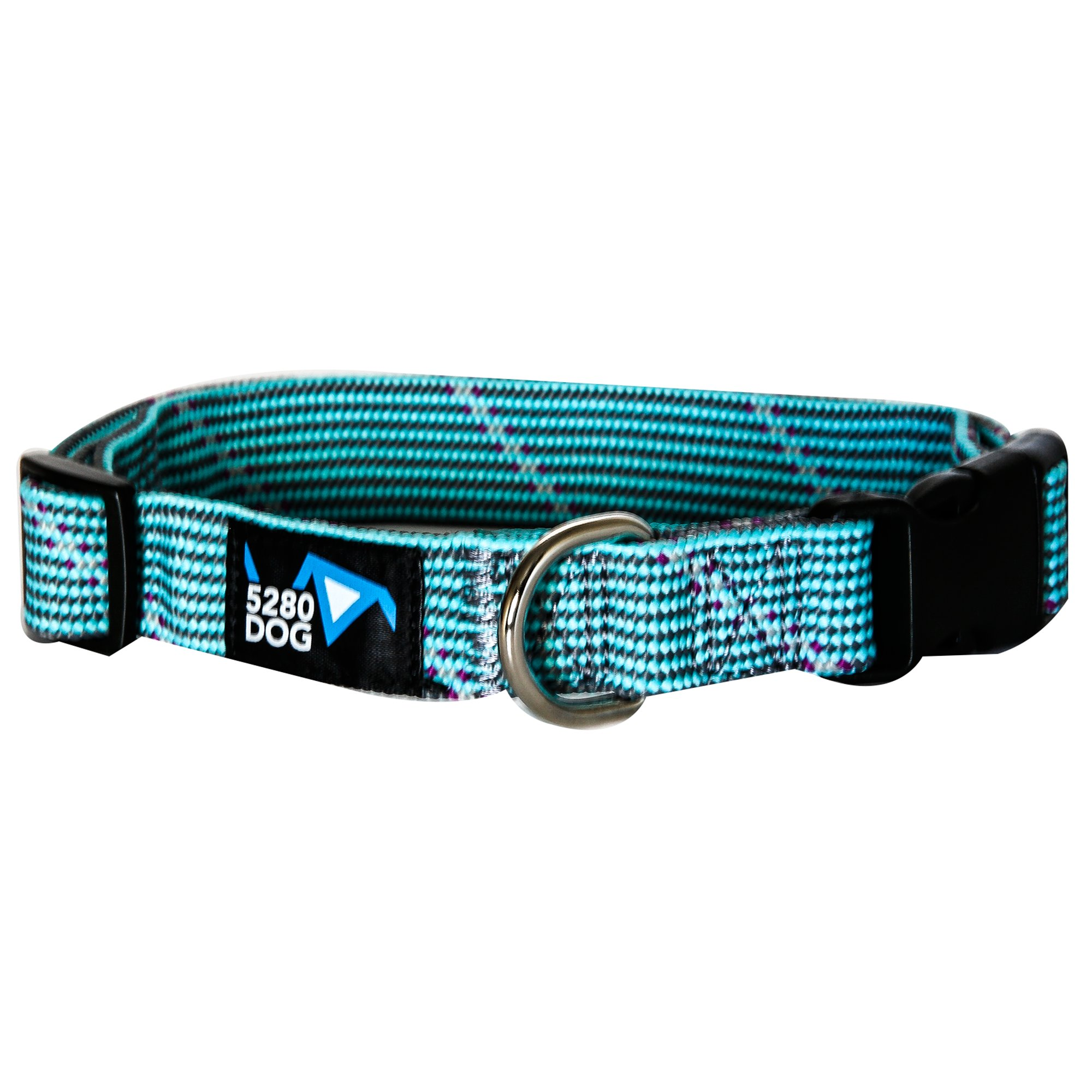 5280DOG Turquoise Braided Collar, Large