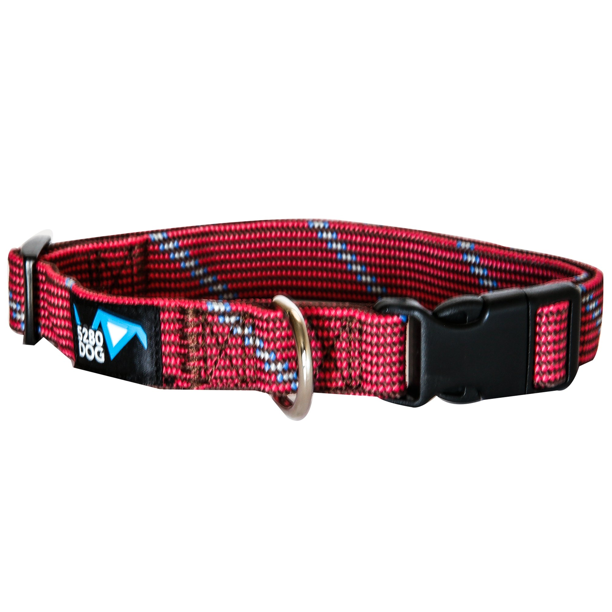 5280DOG Red Braided Collar, Large