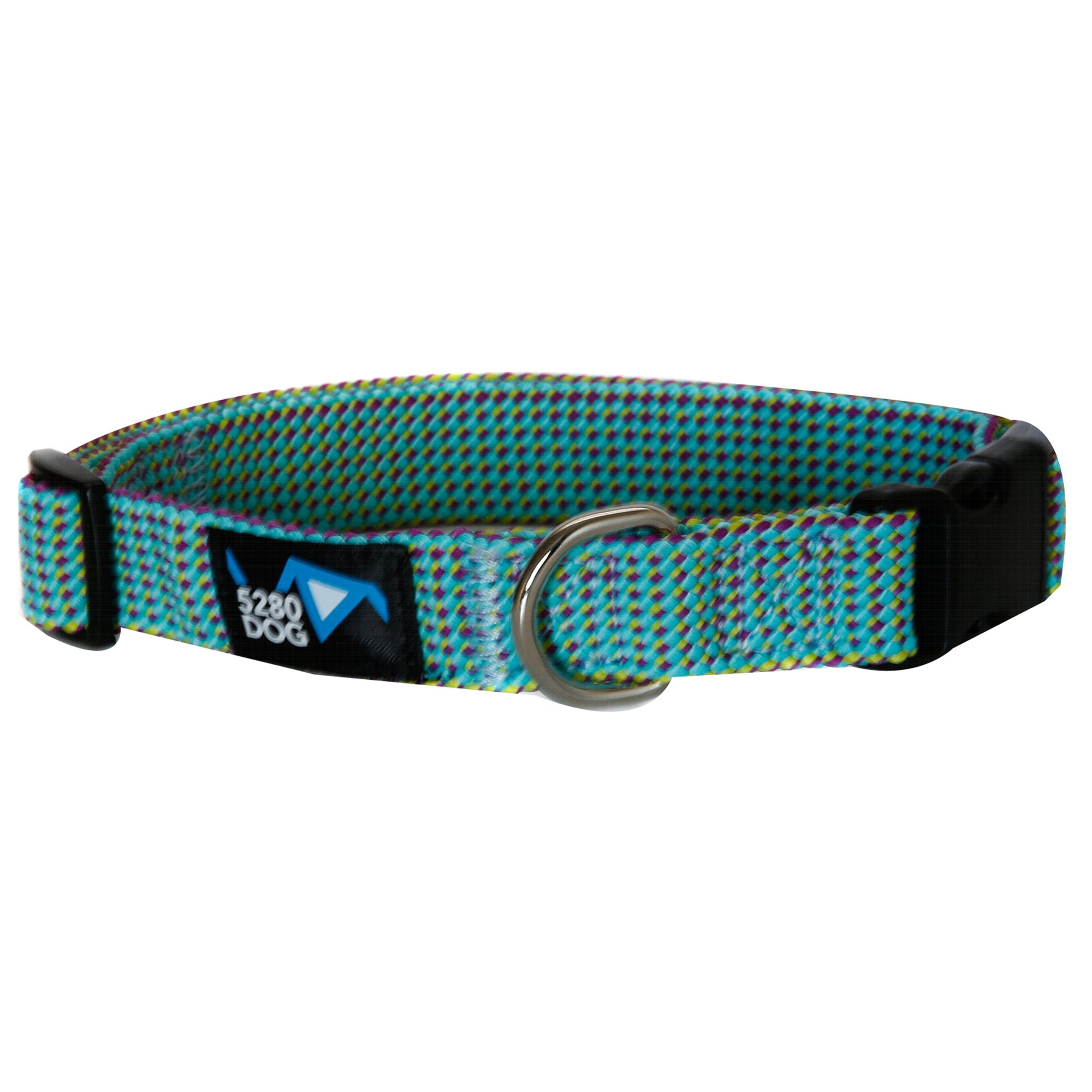 5280DOG Sea Green Braided Collar, Large