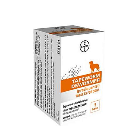 Bayer Tapeworm Dewormer Tablets for Dogs