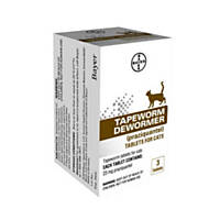 Bayer Tapeworm Dewormer Tablets for Cats