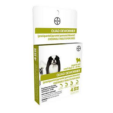 Bayer Quad Dewormer Tablets for Dogs 2 to 25 lbs.