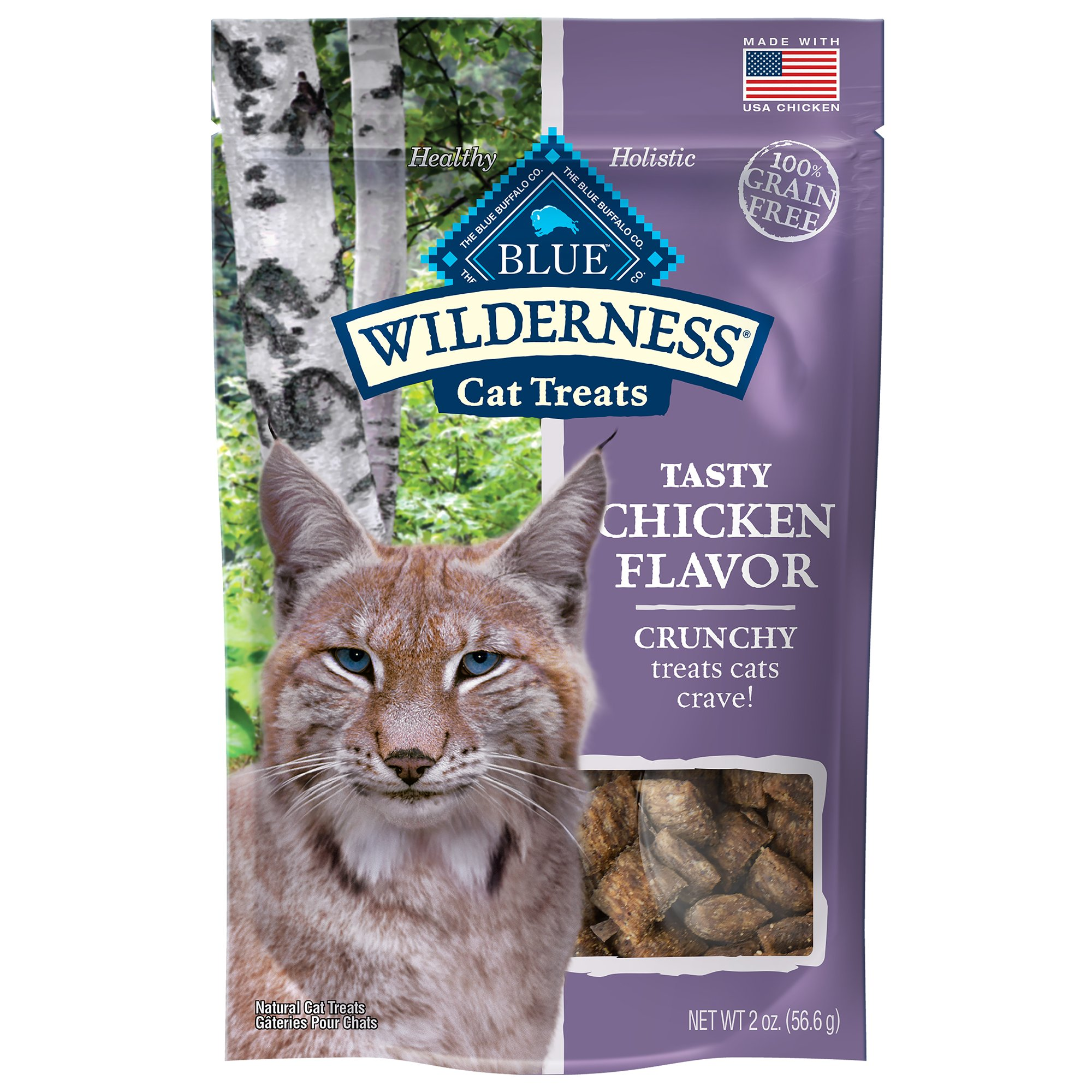 Blue Buffalo Blue Wilderness Chicken Flavor Crunchy Cat Treats, 2 oz.