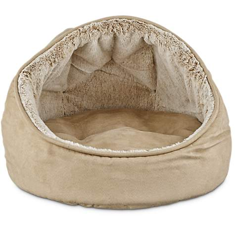 Harmony Hooded Dome Cat Bed in Tan