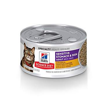Hill's Science Diet Sensitive Stomach & Skin Chicken & Vegetable Entree Cat Food