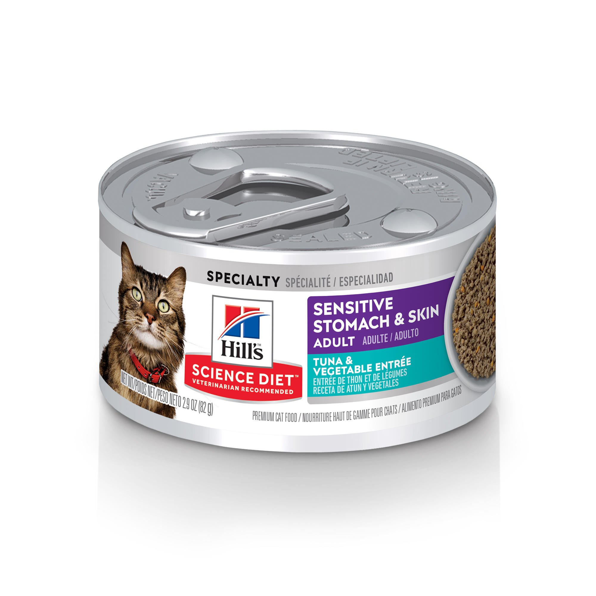 Sensitive Stomach And Skin Cat Food Can