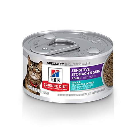 Hill's Science Diet Sensitive Stomach & Skin Tuna & Vegetable Entree Cat Food