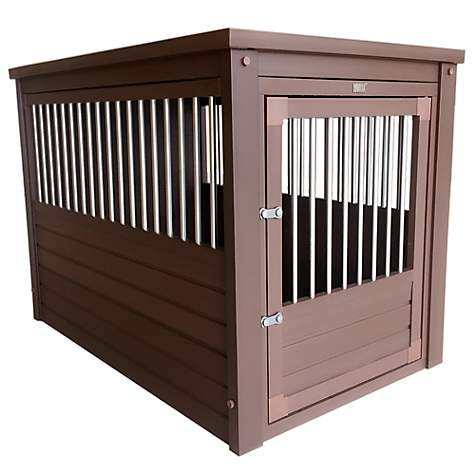 New Age Pet EcoFlex InnPlace Crate in Russet