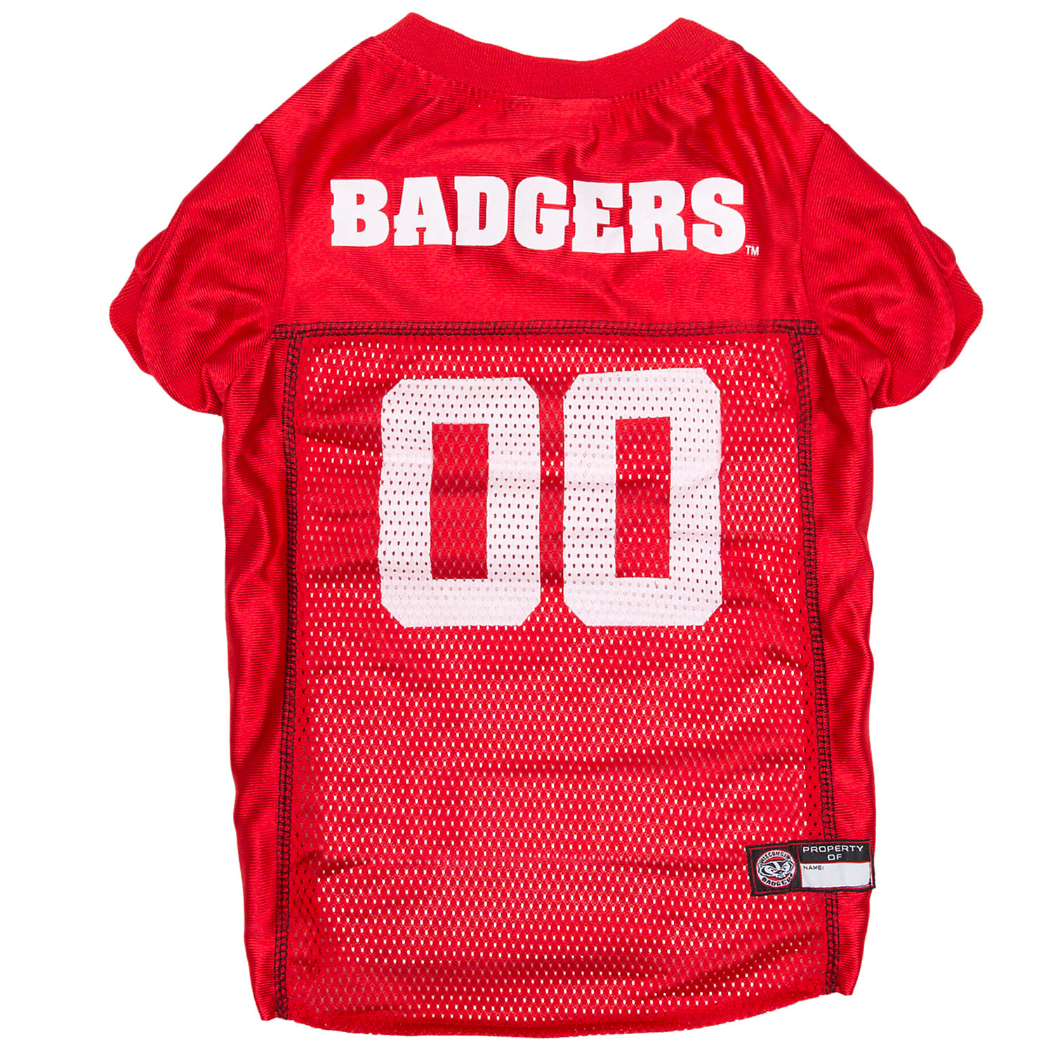Pets First Wisonsin Badgers Ncaa Mesh Jersey For Dogs, X-large