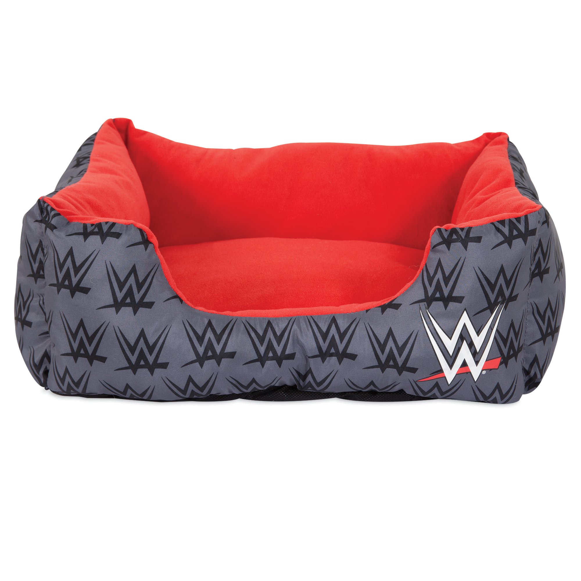 "Image of ""WWE Logo Cuddler Dog Bed in Grey, 20"""" L x 17"""" W, X-Small, Gray"""
