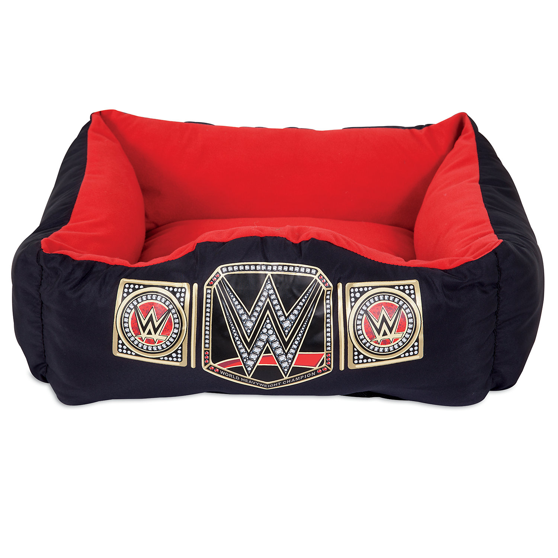 Image of WWE Championship Cuddler Dog Bed in Black