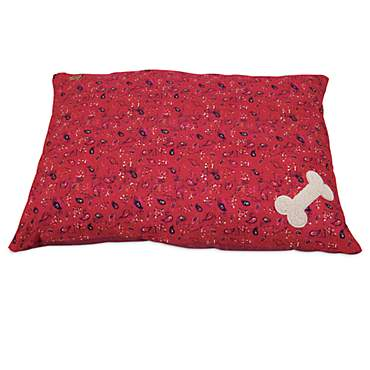 Mutt Nation Fueled by Miranda Lambert Bone Pillow Dog Bed in Red Bandana