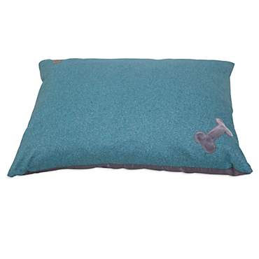 Mutt Nation Fueled by Miranda Lambert Bone Pillow Dog Bed in Denim Blue