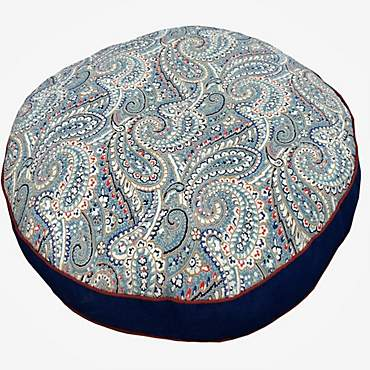 Snoozer Indoor Outdoor Round Dog Bed in Nessa Pattern