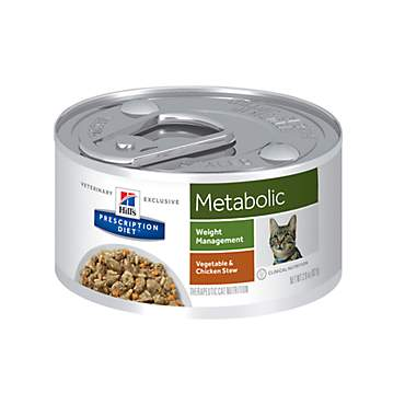 Hill's Prescription Diet Metabolic Weight Management Vegetable & Chicken Stew Canned Cat Food