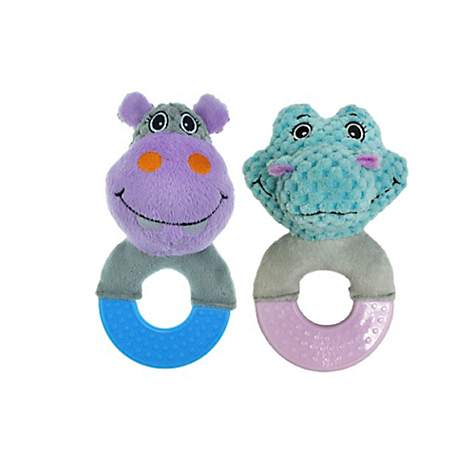Bark-A-Boo Chalked Up Teether Rings Assorted Dog Toy