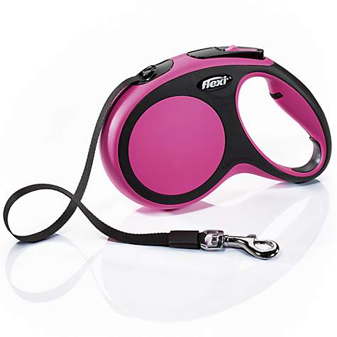 Flexi Comfort Retractable Dog Leash in Pink, 16'