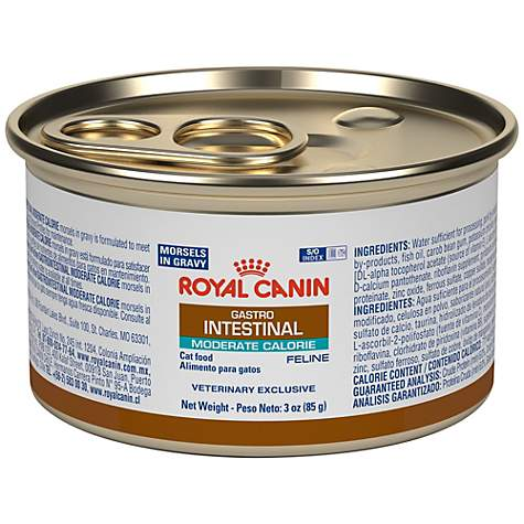 Royal Canin Veterinary Diet Feline Gastrointestinal Moderate Calorie Morsels In Gravy Wet Cat Food
