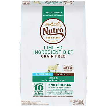 Nutro Limited Ingredient Diet Lamb & Sweet Potato Recipe Large Breed Adult Dry Dog Food