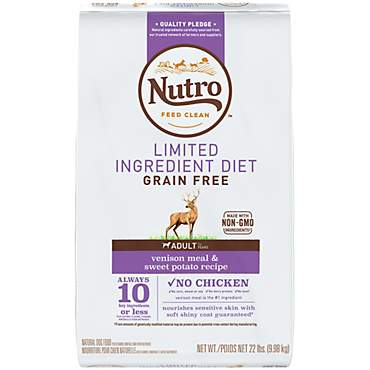 Nutro Limited Ingredient Diet Venison Meal & Sweet Potato Recipe Dry Adult Dog Food