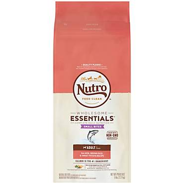 NUTRO WHOLESOME ESSENTIALS Small Bites Salmon, Brown Rice & Sweet Potato Recipe Dry Adult Dog Food