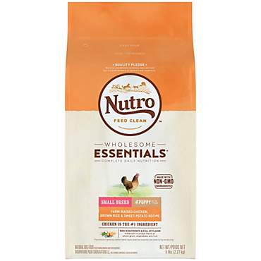 Nutro Wholesome Essentials Farm-Raised Chicken, Brown Rice & Sweet Potato Recipe Dry Small Breed Puppy Food
