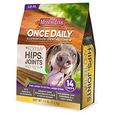 The Missing Link Once Daily Dental Chew Joint Formula for Large - Extra Large Dogs