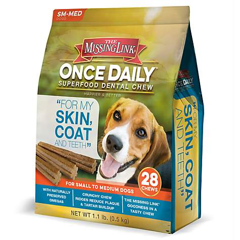 The Missing Link Once Daily Dental Chew Skin & Coat Formula for Small Dogs