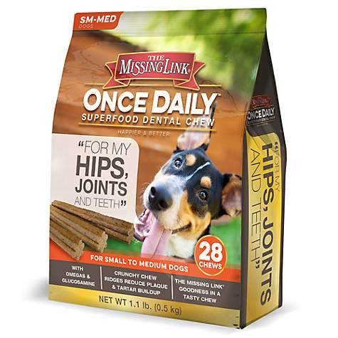 The Missing Link Once Daily Dental Chew Joint Formula for Small Dogs