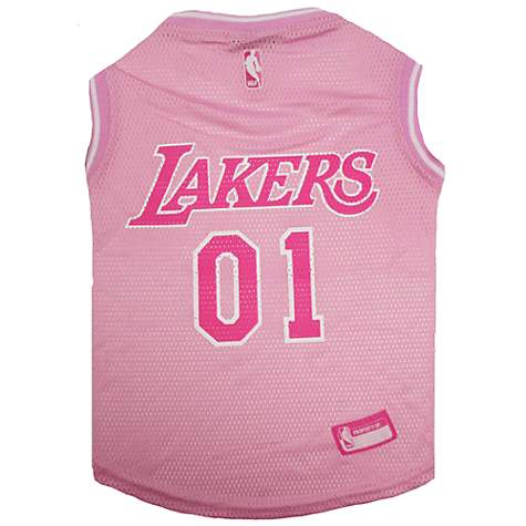 Pets First Los Angeles Lakers Pink Jersey