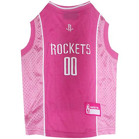 the latest c7ced 885bf Pets First Houston Rockets NBA Pink Jersey for Dogs, Small