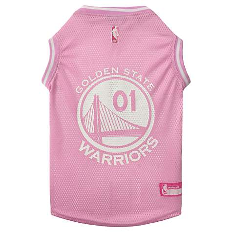 best service 2d784 a3a28 Pets First Golden State Warriors NBA Pink Jersey for Dogs, X-Small
