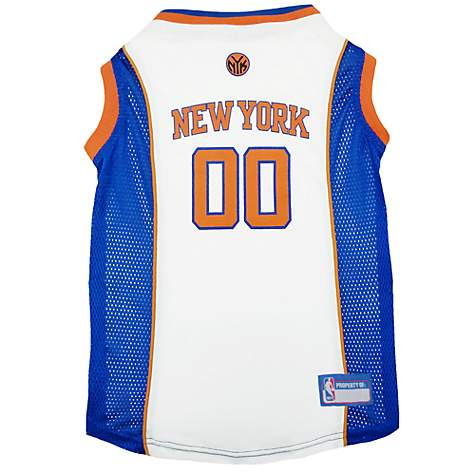 pretty nice af0a5 19c59 Pets First New York Knicks NBA Mesh Jersey for Dogs, X-Small