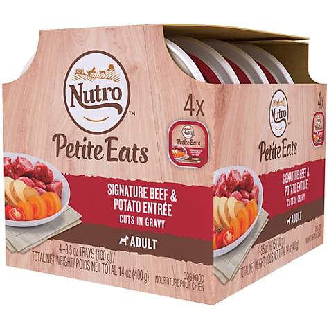 Nutro Petite Eats Multipack Signature Beef & Potato Entree Cuts In Gravy Dog Food Trays