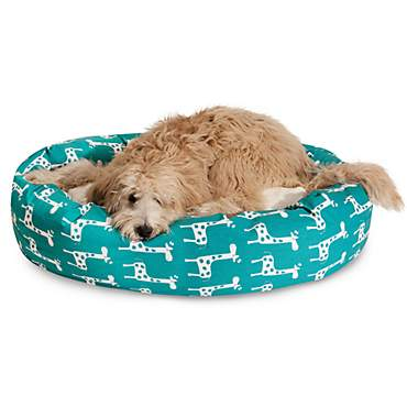 Majestic Pet Stretch Turquoise Sherpa Bagel Bed
