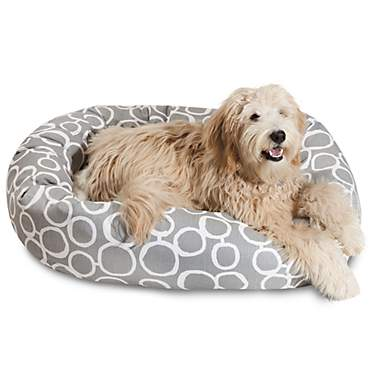 Majestic Pet Fusion Gray Sherpa Bagel Bed