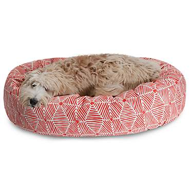 Majestic Pet Charlie Salmon Sherpa Bagel Bed