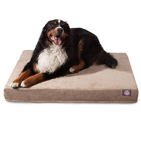 Majestic Pet Pearl Villa Orthopedic Memory Foam Rectangle Dog Bed