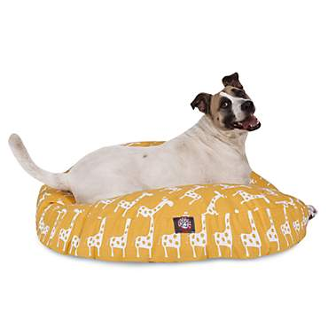 Majestic Pet Stretch Yellow Round Pet Bed