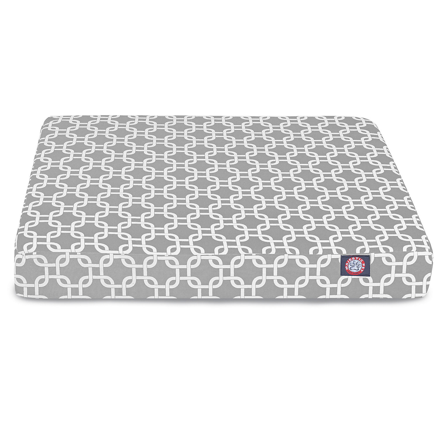 Majestic Pet Gray Links Orthopedic Memory Foam Rectangle Dog Bed, 44 L X 36 W, Large, Grey