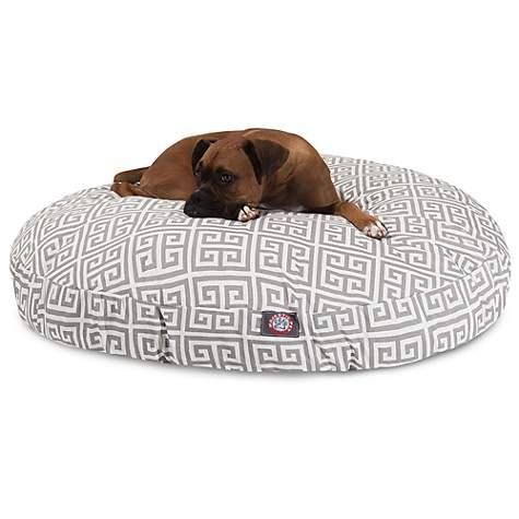 Pleasant Majestic Pet Grey Towers Round Pet Bed 42 L X 42 W Creativecarmelina Interior Chair Design Creativecarmelinacom
