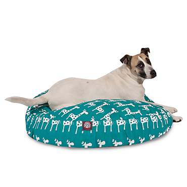 Majestic Pet Stretch Turquoise Round Pet Bed