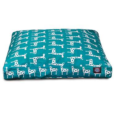 Majestic Pet Stretch Turquoise Rectangle Pet Bed