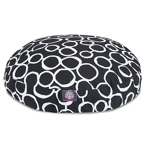 Majestic Pet Fusion Black Round Pet Bed