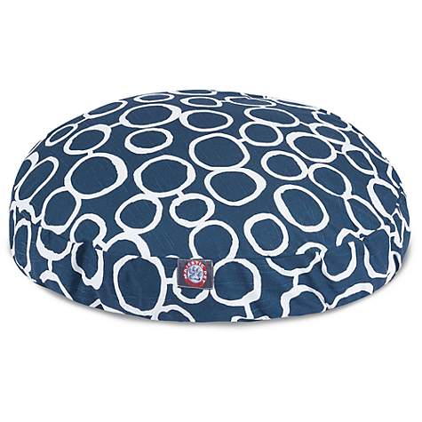 Majestic Pet Fusion Navy Round Pet Bed