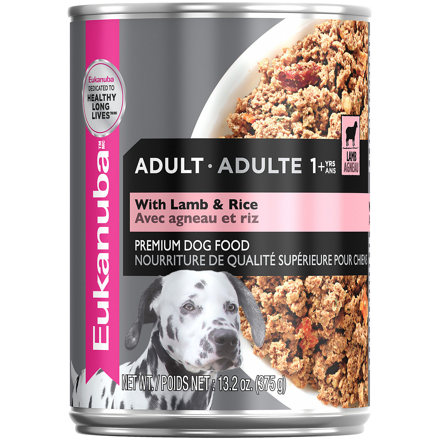 Eukanuba Ground Entree With Lamb & Rice Adult Canned Dog Food, 13.2 Oz., <br /><br />Case of 12