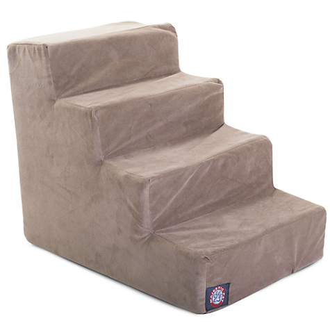 Majestic Pet Products 4-Step Stone Suede Pet Stairs