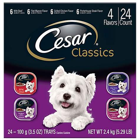 Cesar Canine Cuisine Club Variety Pack Dog Food Trays